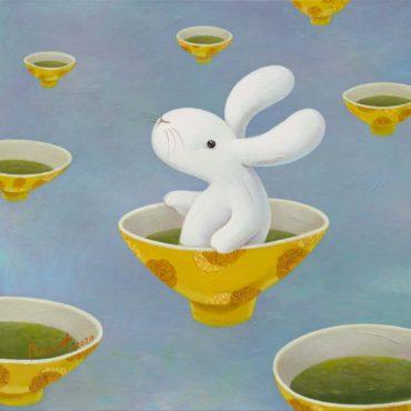 黃本蕊,九日養生茶道--第六日,2020,壓克力顏料/畫布,51 x 51 cm