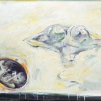 顧福生,混沌初開,1996,綜合媒材/畫布,94.5 x 125 cm