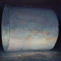 陸亮,水泥筒,2014-2015,油彩/畫布,150 x 120 cm