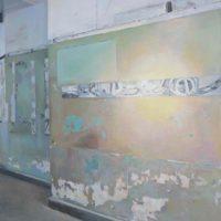 陸亮,中央商場之一,2014,油彩/畫布,116 x 95 cm
