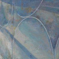 陸亮,古根海姆的斜陽,2015,油彩/畫布,19 x 24 cm