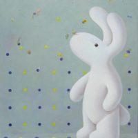 黃本蕊,點兒要飛⋯⋯,2015,壓克力顏料/畫布,61 × 51 cm