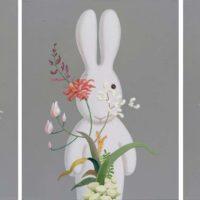 黃本蕊,以花之名,2016,壓克力顏料/畫布,71 × 56 cm each,set of 3