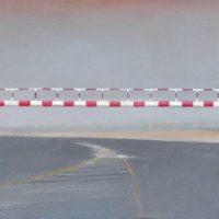 陸亮,限制高度,2008-2013,油彩/畫布,28 x 200 cm