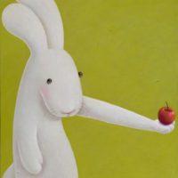 黃本蕊,對∼∼不∼∼起!,2016,壓克力顏料 / 畫布,71 × 56 cm