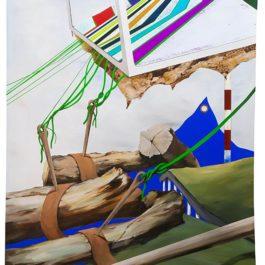 周代焌,未來之詩下的羈絆,2017,壓克力顏料/畫布,145 x 95 cm