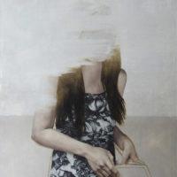 鄭農軒,隱蔽之人,2015,油彩、畫布,80 x 60.5 cm