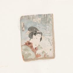 王玉平,浮世繪的小人書-12,2016,水彩/紙,31 x 41 cm