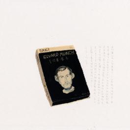 王玉平,《蒙克傳》,2012,壓克力顏料、油畫棒/紙,55 x 78 cm