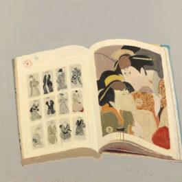 王玉平,寫樂圖-4,2012,油彩、壓克力顏料、油畫棒/畫布,100 x 100 cm