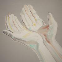 黃華真,等你,2013,油彩 / 畫布,120.5 x 120.5 cm