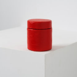 LAI Chih-Sheng, Paint Can _Naphthol Red Light, 2016, Acrylic / paper on plastic, 6 × 6 × 7 cm