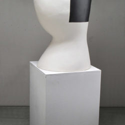 Shida KUO, Untitled No. 12-02, 2012, Fired clay and metallic glaze, 92.7 × 40.6 × 48.2 cm