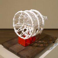 Teppei KANEUJI, White Discharge ( Hoops ), 2011, Basket, wood, resin, plaster, 73.5 x 105.8 x 72 (h) cm