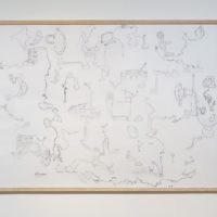 Teppei KANEUJI, White Discharge ( Outlines #59 ), 2011, Paper, collage of cutouts of coloring books, 113.2 x 154 cm