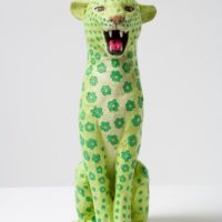 Hiroto KITAGAWA, Floral Panther, 2009, Terracotta, acrylic, (h)28 cm