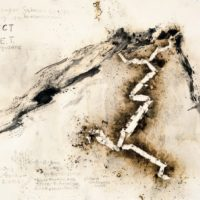 CAI Guo-Qiang, Ascending Dragon: Project for Extraterrestrials No. 2, 1989, Gunpowder and ink on paper, 240 x 300 cm