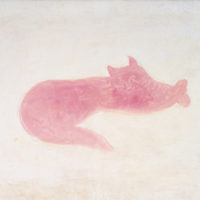 Sanyu, Pink Cat, 1930s, Oil on canvas, 33.5 x 46.5 cm