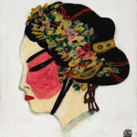 Sanyu, Peking Opera Singer, 1940–50s, Oil on Masonite, 33.6 x 31 cm