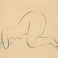 SanYu, Nude, 1920–30s, Ink on paper, 21.5 x 27 cm