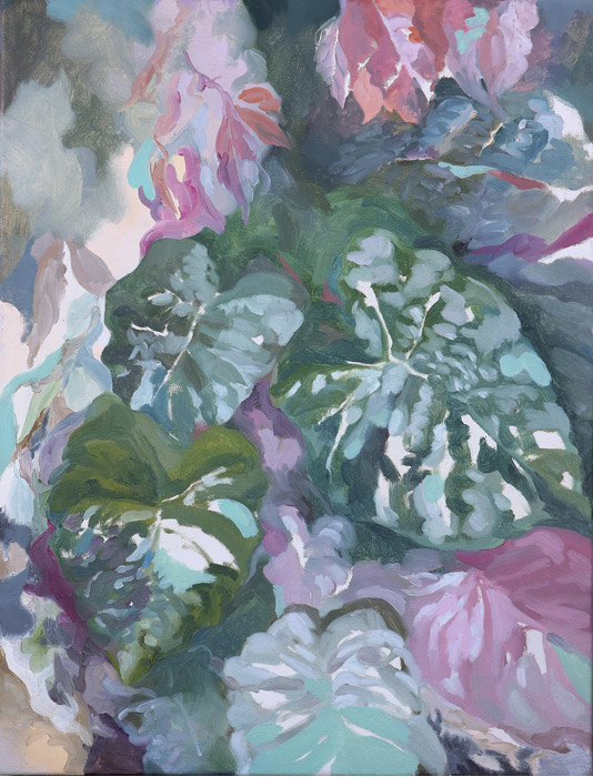 Chia-Ning, HSU, The adimission from plants, 2017, Oil on Canvas, 53 x 45.5 cm