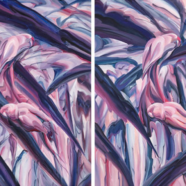 HUANG KO WEI, Concave / Convex, 2018, Acrylic on Canvas, 45x 35 cm (each), set of 2