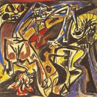 André Masson, Bestiaire, 1942ー1943, Pastel on American Paper, 38 x 48.5 cm