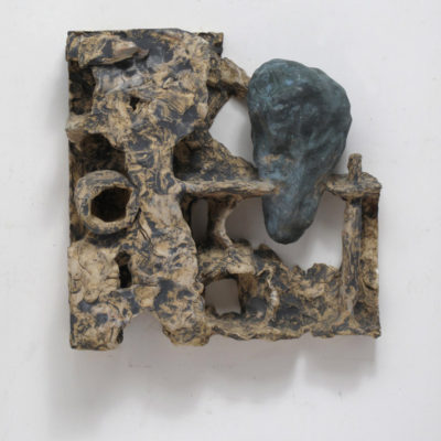 Shida KUO, Untitled 96-07, 1996, Fired clay and metallic oxides, 31 x 31 x 9 cm
