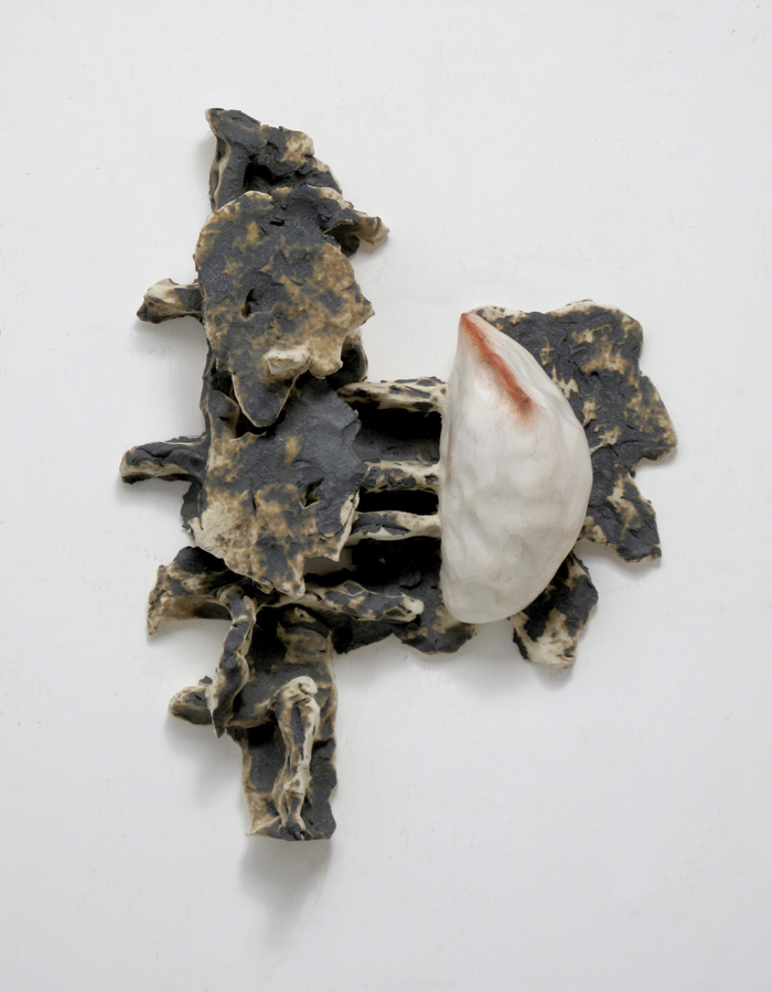 Shida KUO, Untitled 96-36, 1996, Fired clay and metallic oxides, 36 x 28 x 10 cm