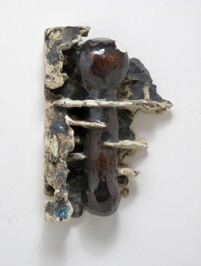 Shida KUO, Untitled SC-01, 2000, Fired clay, metallic glaze and oxides, 36 x 26 x 10 cm