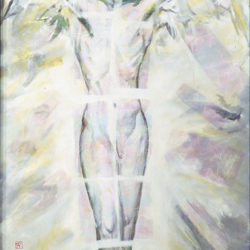 Fu-sheng KU, Vision, 1996, Mixed media on canvas, 126 x 74 cm