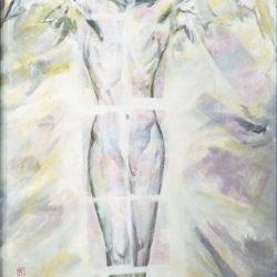 Fu-sheng KU, Vision, 1996, Mixed media on canvas, 126 x 74 cm