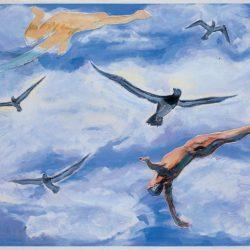 Fu-sheng KU, Flight, 2004, Mixed media on paper, 44 x 59 cm