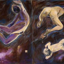Fu-sheng KU, New Beginnings, 2009, Oil on canvas, 172 x 121.5 cm / each, Set of 2